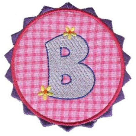 Button Applique Alphabet B