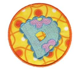 Button Applique Alphabet D