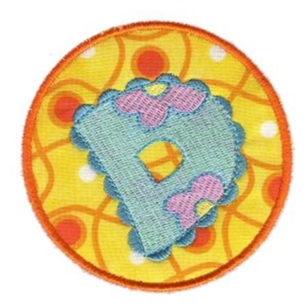 Button Applique Alphabet D
