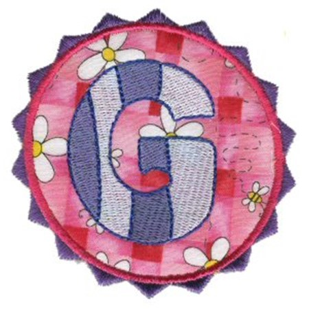 Button Applique Alphabet G