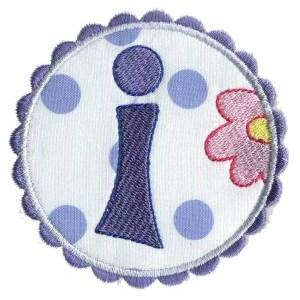 Button Applique Alphabet I