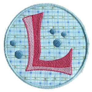 Button Applique Alphabet L