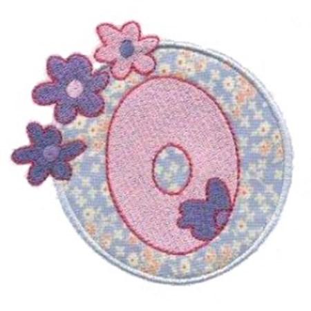 Button Applique Alphabet O
