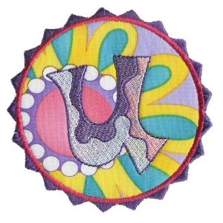 Button Applique Alphabet U
