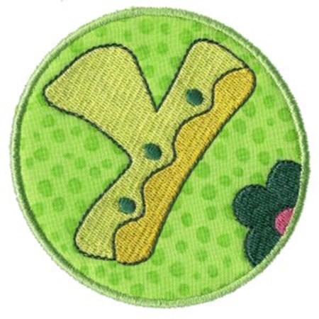 Button Applique Alphabet Y