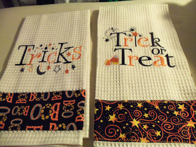 Amparo Emailed In These Adorable Tea Towels She Made Using Halloween  Sentiments Designs. Part 65