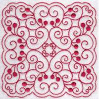 Cherries Quilt Blocks Redwork