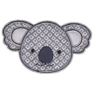 Cute Animal Faces Applique 13