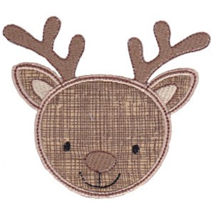 Cute Animal Faces Applique 15