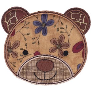 Cute Animal Faces Applique 16