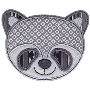 Cute Animal Faces Applique 18