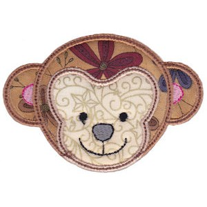 Cute Animal Faces Applique 3