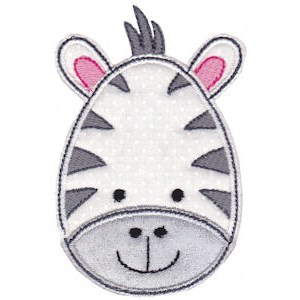 Cute Animal Faces Applique 4