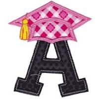Graduation Alphabet Applique