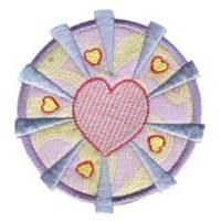 Hearts And Circles Applique