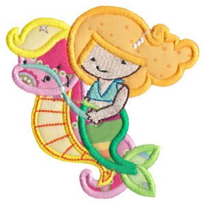 Magical Mermaids Applique 12