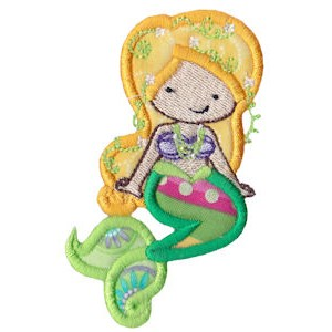Magical Mermaids Applique 6