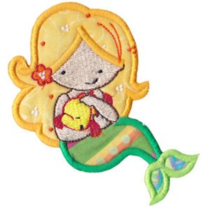 Magical Mermaids Applique 8