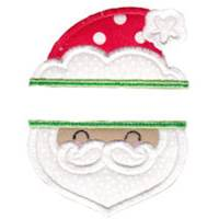 Split Christmas Applique