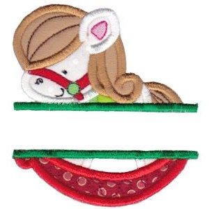 Split Christmas Applique Too 12