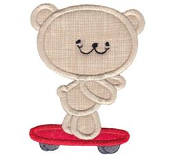 2 Cute Bears Applique 16
