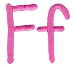 All Things Pink Alphabet F