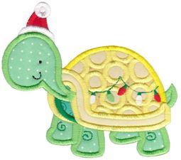 Applique Christmas Turtle