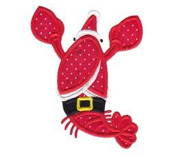 Applique Christmas Lobster