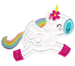 Jumping Unicorn Applique