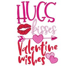 Hugs Kisses Valentines Wishes
