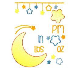 Moon Birth Announcement US pm