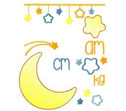 Moon Birth Announcement Metric am