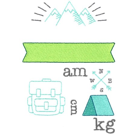 Camping Birth Announcement Metric am