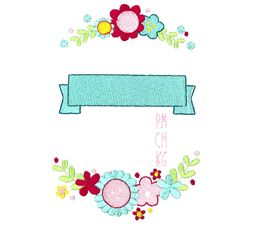 Floral Birth Announcement Metric pm