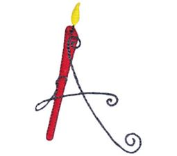 Birthday Candles Alphabet Capital A