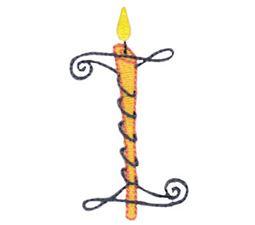 Birthday Candles Alphabet Capital I