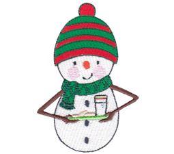 Milk and Cookies Snowman