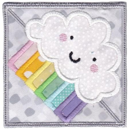 Rainbow Cloud ITH Corner Bookmark