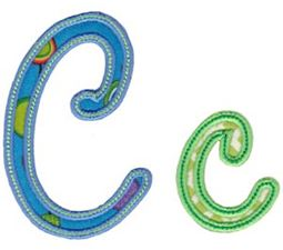 Curly Girl Alphabet Applique C