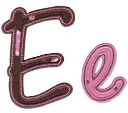Curly Girl Alphabet Applique E