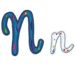 Curly Girl Alphabet Applique N