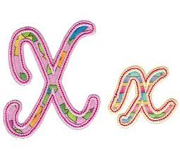 Curly Girl Alphabet Applique X