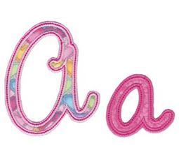 Curly Girl Alphabet Applique A