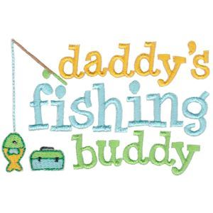 Embroidery Design Set - Daddys Buddy Sentiments 1
