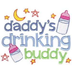 Embroidery Design Set - Daddys Buddy Sentiments 12