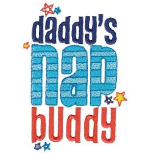 Embroidery Design Set - Daddys Buddy Sentiments 7