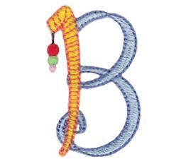 Dangles Capitals Alphabet B
