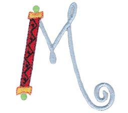 Dangles Capitals Alphabet M
