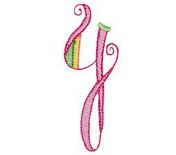 Dangles Capitals Alphabet Y