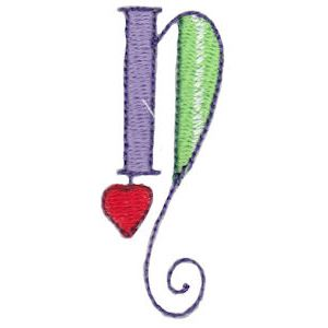 Embroidery Design Set - Dangles Lower Case Alphabet n